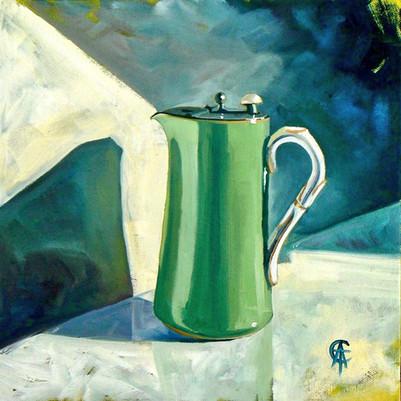 Green Worcester Jug (oils) SOLD