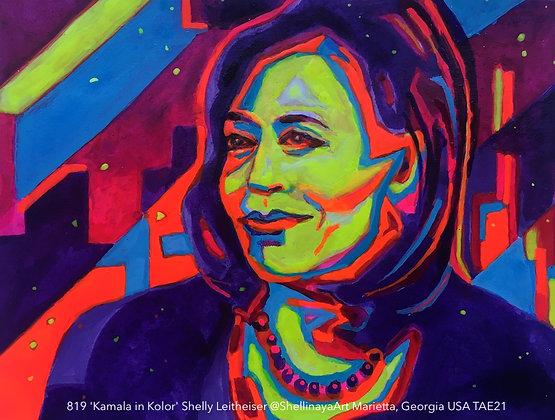 819 'Kamala in Kolor' Shelly Leitheiser @ShellinayaArt  Georgia USA TAE21