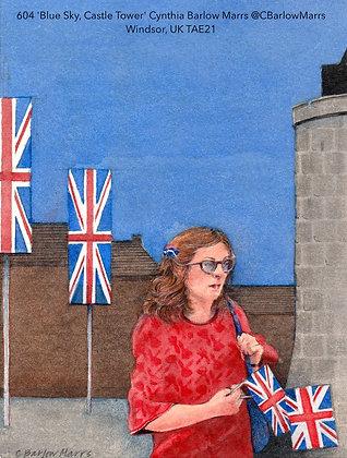 604 'Blue Sky, Castle Tower' Cynthia Barlow Marrs @CBarlowMarrs Windsor UK TAE21