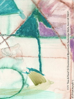 1171 'Tree & Pond' Di Drummond @painterDi Tunbridge Wells, Kent UK TAE21