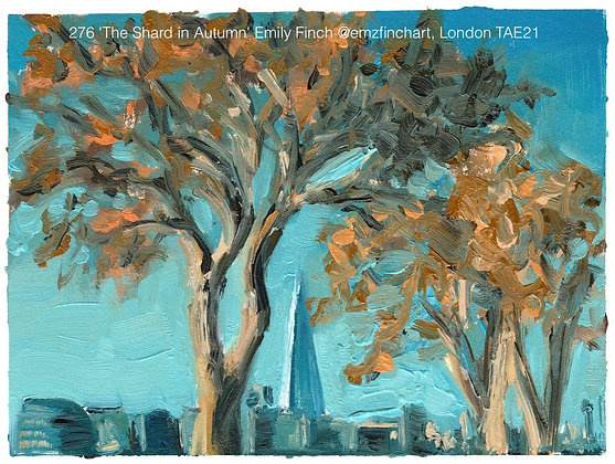 276 'The Shard in Autumn' Emily Finch @emzfinchart, TAE21