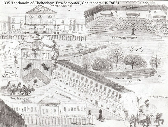 1335 'Landmarks of Cheltenham' Ezra Samoutou, Cheltenham, UK TAE21