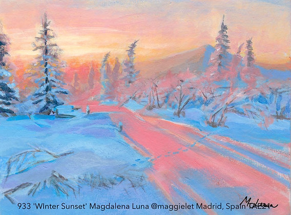 933 'WInter Sunset' Magdalena Luna @maggielet Madrid, Spain TAE21