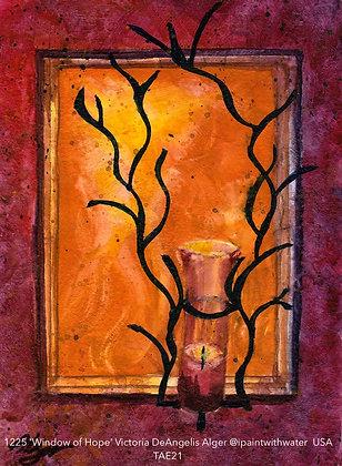 1225 'Window of Hope' Victoria DeAngelis Alger @ipaintwithwater USA TAE21
