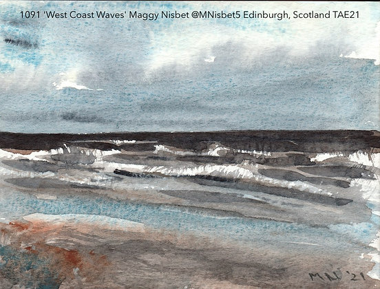 1091 'West Coast Waves' Maggy Nisbet @MNisbet5 Edinburgh, Scotland TAE21