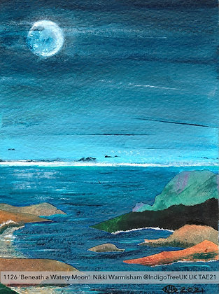 1126 'Beneath a Watery Moon' Nikki Warmisham @IndigoTreeUK  UK TAE21
