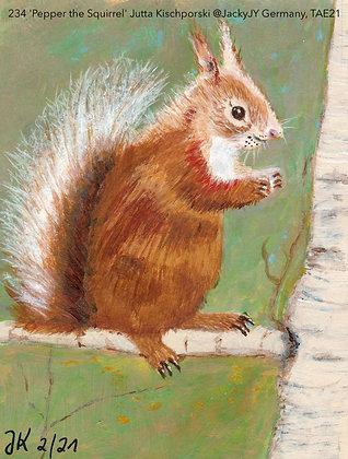 234 'Pepper the Squirrel' Jutta Kischporski @JackyJY  Germany TAE21