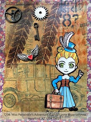 1208 'Miss Periwinkle's Adventure' Garnet Lynne @garnetlynne USA TAE21