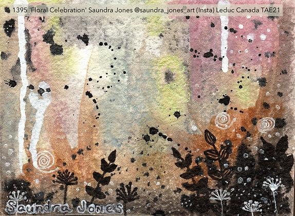 1395 'Floral Celebration' Saundra Jones @saundra_jones_art (Insta) Canada
