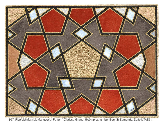 927 'Fivefold Mamluk Manuscript Pattern' Clarissa Grandi @c0mplexnumber UK TAE21