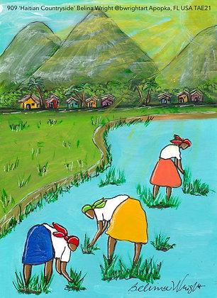 909 'Haitian Countryside' Belina Wright @bwrightart Apopka, FL USA TAE21