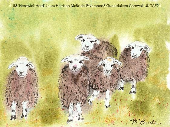 1158 'Herdwick Herd' Laura Harrison McBride @Noraned3  Cornwall UK TAE21
