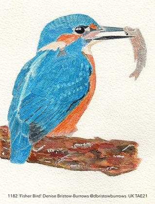 1182 'Fisher Bird' Denise Bristow-Burrows @dbristowburrows Surrey, UK TAE21
