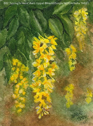 882 'Spring is Here' Aarti Uppal @AartiUSingla NOIDA India TAE21