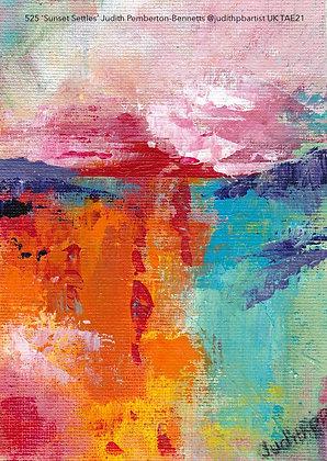 525 'Sunset Settles' Judith Pemberton-Bennetts @judithpbartist Glos, UK TAE21