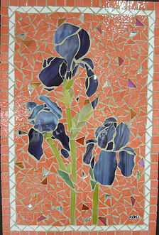 Irises mosaic Vicky Pryer