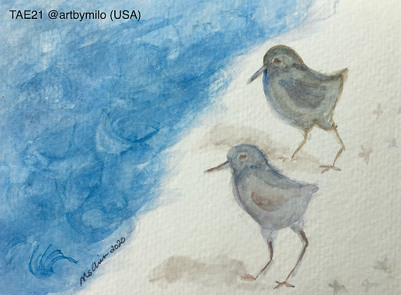 85 ' Birds on the Beach' Milo Chin @artbymilo California, USA