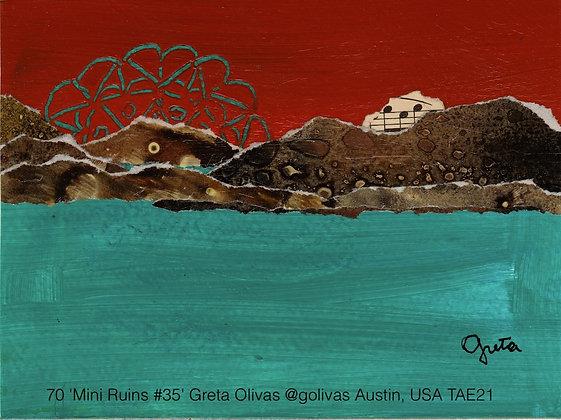 70 'Mini Ruins #35' Greta Olivas @golivas Austin, USA TAE21