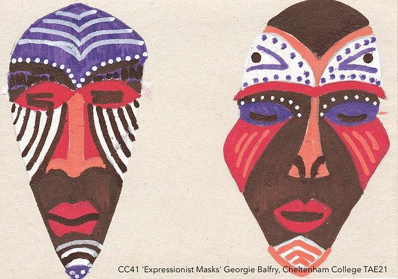 CC41 'Expressionist Masks' Georgie Balfry, Cheltenham College TAE21