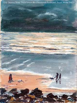 1252 'Stormy Skies' Tricia Simon @triciasimonslt Porthcawl, South Wales TAE21