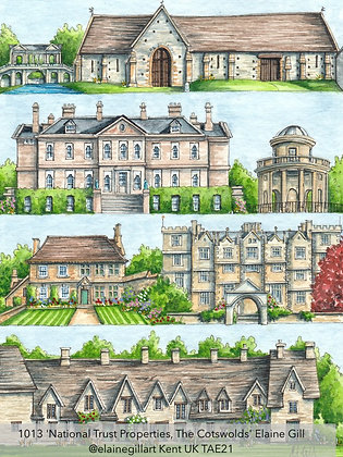 1013 'National Trust Properties, The Cotswolds' Elaine Gill @elainegillart TAE21