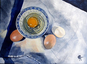 Eggs and Oriental Bowl SOLD
