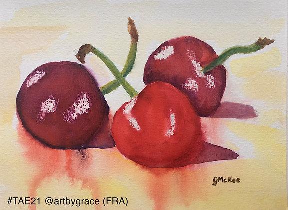251 'Cherries' Grace McKee @artbygrace, France