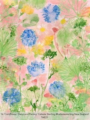 16 'Cornflower, Daisy and Parsley' Celeste Sterling @celestesterling NZ TAE21