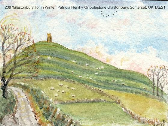 206 'Glastonbury Tor in Winter' Patricia Herlihy @ripplestone Somerset TAE21