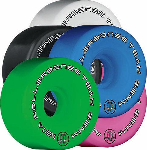 RollerBones Team Artistic Wheels - multi-colors