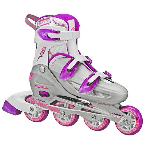 V-Tech 500 Girls Size Adjustable Inline Skates