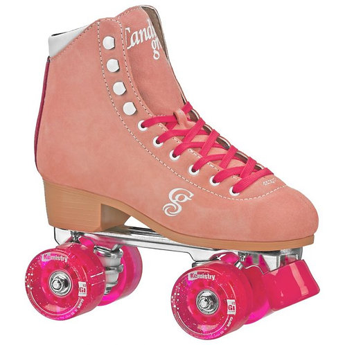Candi Girl Carlin Indoor/Outdoor Roller Skates - Peach/Pink