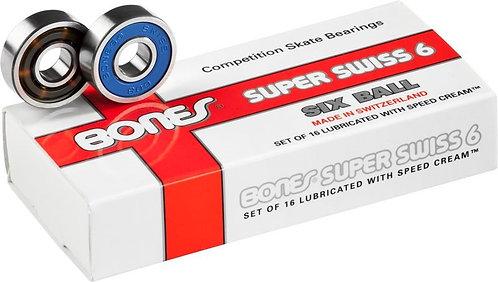 Bones Swiss Super 6 Bearings for roller skates