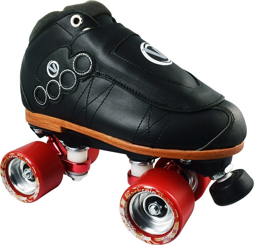 Vanilla Blackout Pro Roller Skates with Red Deluxe Wheels
