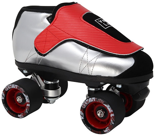 Vanilla Junior SLVR - silver, red, & black jam roller skate