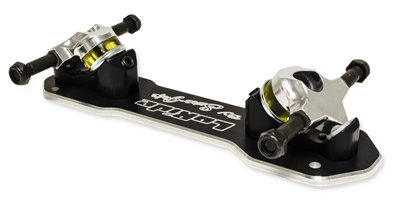 Sure-Grip LoRide roller skate plate - adjustable hangers can lower the height of the skate