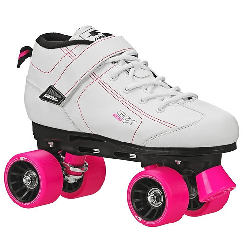 Pacer GTX 500 roller skates - white with pink wheels