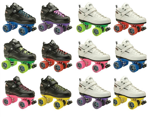 Rock GT-50 Custom Skates with different color wheels