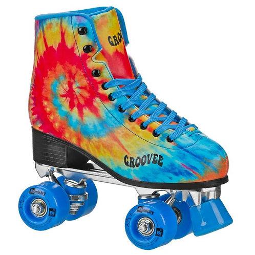 Groovee Pinwheel Tie-Dye Roller Skates