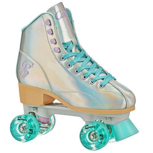 RollerDerby Sabina hologram blue roller skate
