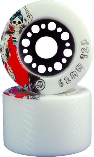 Rollerbones Day of the Dead roller skate wheel - white