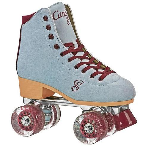 Candi Girl Carlin Indoor/Outdoor Roller Skates - Blue/Burgandy