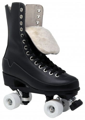 Vanilla Godfather roller skates with white velvet wheels