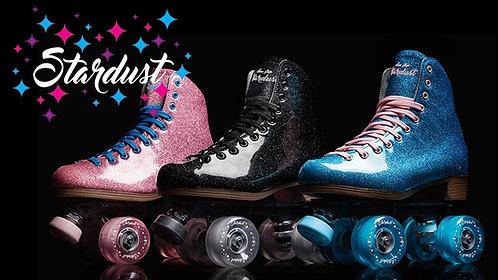 Stardust Glitter Skates with black background