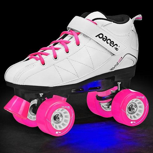 Pacer Revive Light Up skates- white