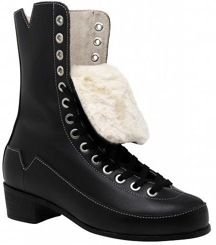 VNLA Godfather Rhythm Skate Boot - Black high top leather roller skate boot