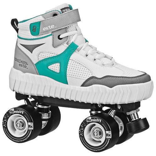 RollerDerby elite Glidr Sneaker Skate - White/Teal