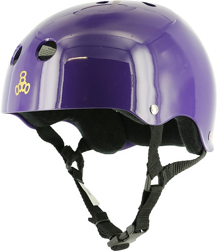 Triple - 8 Brainsaver Gloss Helmets - purple