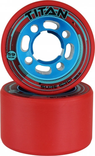 Sure-Grip Titan Speed Wheels - red