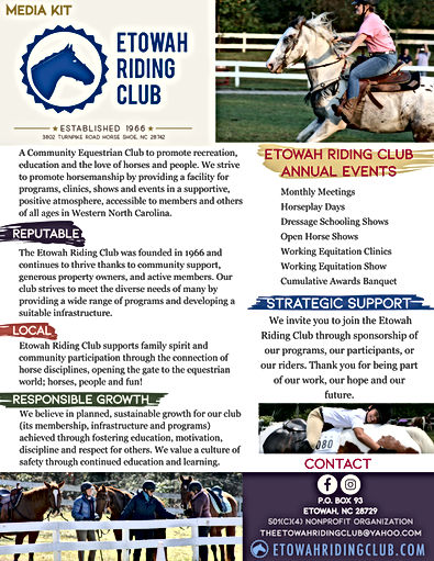 Etowah Riding Club Support